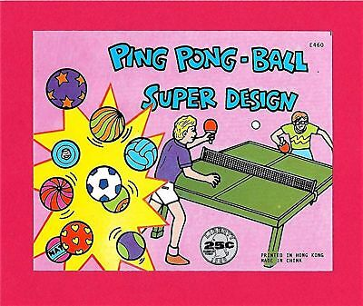 Super Ping Pong Ball Gumball Vending Machine Toy Sign