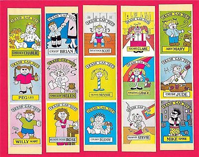 15 Trash Can Tots Vending Stickers -garbage pail kids B