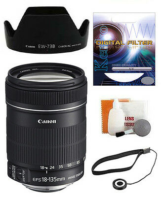 Canon EF-S 18-135mm f/3.5-5.6 IS Zoom Lens -New USA+Kit