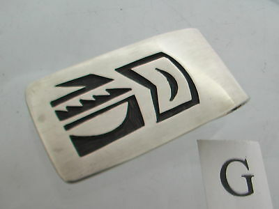 Taxco Mexico 925 Sterling Silver Hopi-Style Money Clips