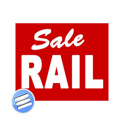 "DOUBLE SIDED, POS, PROMOTIONAL SHOP DISPLAY CARD - 'SALE RAIL' - SIZE: 12"" x 10"""