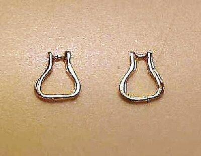 1:32 Stablemate WESTERN STIRRUPS - Gold Plated Brass