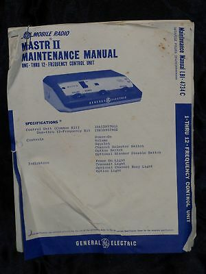 General Electric Mastr II Frequency Manual LBI-4734C
