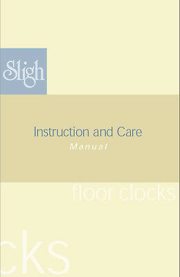FREE Sligh Clock Owners Manual Instruction Download