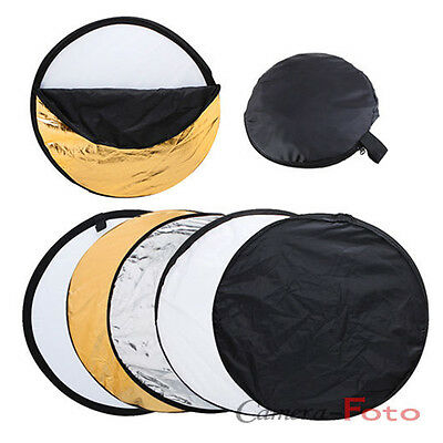 """Pro 80cm Reflector 5-in-1 Multi Collapsible Panel Photo Studio 32"""" UK delivery"""