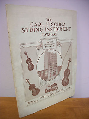 Carl Fischer STRING INSTRUMENTS Catalog circa 1925