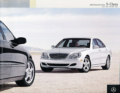2004 Mercedes Benz S-Class S55 AMG S500 S600 S430 50-page Car Sales Brochure