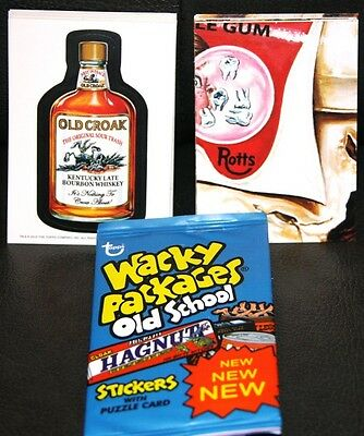 Wacky Packages Old School 2 Set + Puzzle & Wrapper Wow