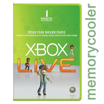 Xbox One 360 Live Gold Mitgliedschaft 1 Monate Monat 1 Month Code Card Per Email