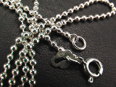 925 Sterling Silver 1.8 mm Ball Chains. Lengths 40, 45, 50 cm