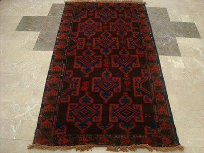 BALAUCHI TRIBAL NOMADIC AFGHAN HAND KNOTTED RUG 6.3x3.5