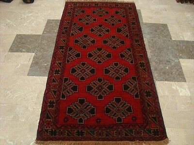 BALAUCHI TRIBAL NOMADIC AFGHAN HAND KNOTTED RUG 6.0x3.7