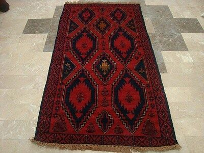 BALAUCHI TRIBAL NOMADIC AFGHAN HAND KNOTTED RUG 6.3x3.4