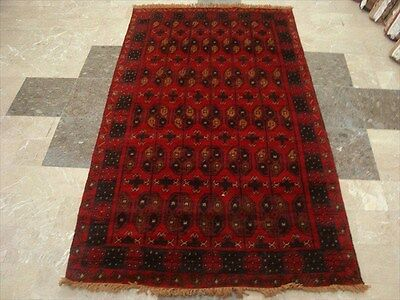 BALAUCHI TRIBAL NOMADIC AFGHAN HAND KNOTTED RUG 6.2x3.7