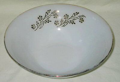 Federal Meadow Gold Pattern Milk Glass Vegetable Bowl