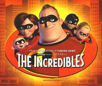 Incredibles Original Movie Poster 23x27 Single Sided