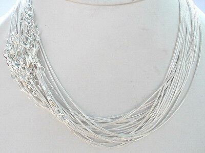"""WHOLESALE 20PCS SILVER SNAKE CHAIN NECKLACE 16""""-24"""",1mm"""