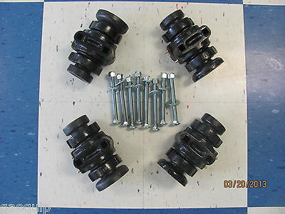 "4 Disc Harrow Bearing Complete,1"" Square W/caps & Bolts"
