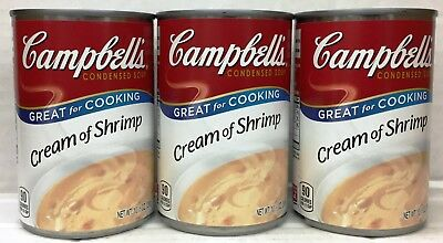 Campbell's Cream of Shrimp Condensed Soup 3 Cans Campbells