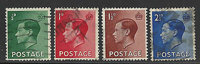 Great Britain Scott 230/233 Used Set - 1936 Edward Viii