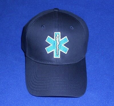 EMT / EMS  Cap Hat Low profile Star of Life Navy Blue