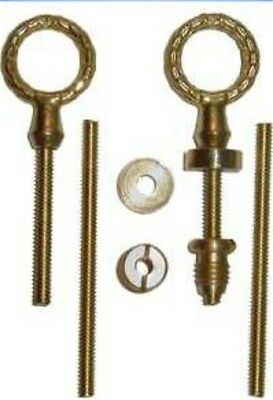 Cheval Swivel Mirror Mount Set  Brass  B2726