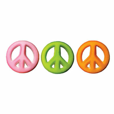 SUGAR LAYONS DECORATIONS GROOVY PEACE SIGN 12 pack