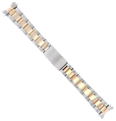 Midsize 18K/Ss Oyster Rose Gold Watch Band For Rolex