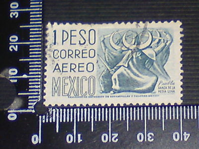 Used Stamp - Mexico - 1 Peso