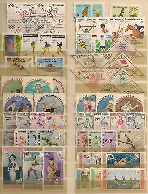 COLLECTION - Dominican Rep.  55 dif. Sports Stamps