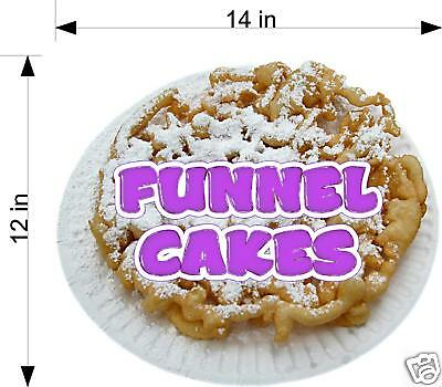 Funnel Cake Cakes Concession Trailer Food Decal 14""