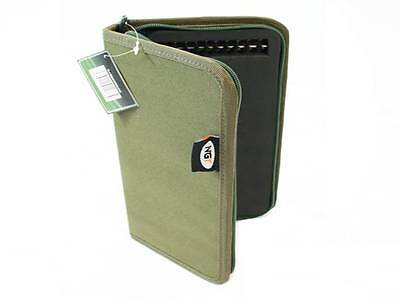 New Green Stiff Zip Carp Fishing Rig Wallet + 20 Pins 940 Ngt Rig Wallet