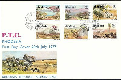 1977 Rhodesia Rock Formation & Country Landscape FDC