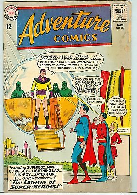 Adventure Comics #314 November 1963 G+ Legion of Super-Heroes