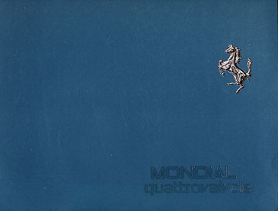 1982 1983 Ferrari Mondial Original Sales Brochure Book