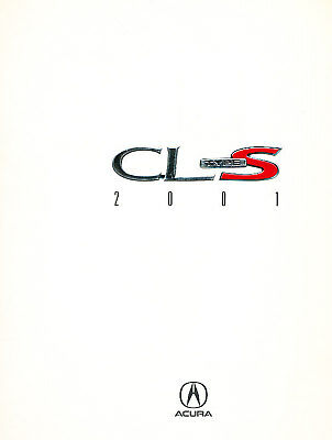 2001 Acura CL Type-S Rare Original Sales Brochure Book