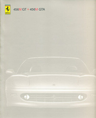 1998 Ferrari 456M 456 GT GTA Sales Brochure Book