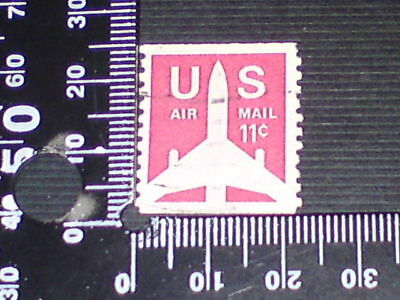 USED STAMP - USA - AIRMAIL 11c NO PERF TOP & BOTTOM #2