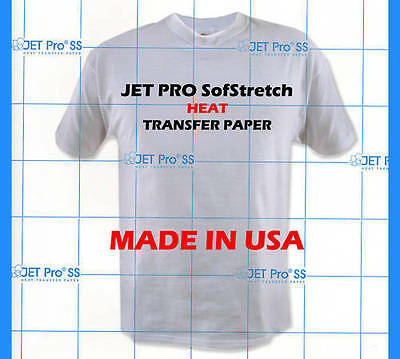 "Heat Press Machine Transfer Paper T-Shirt 100Pk 8.5"" x 11"" For Light Fabrics"