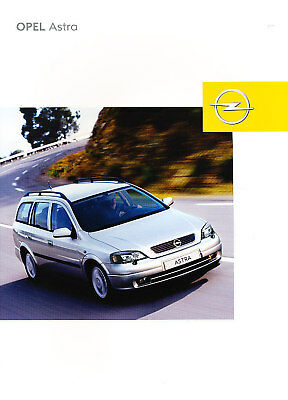 2003 Opel Astra Deluxe German Sales Brochure