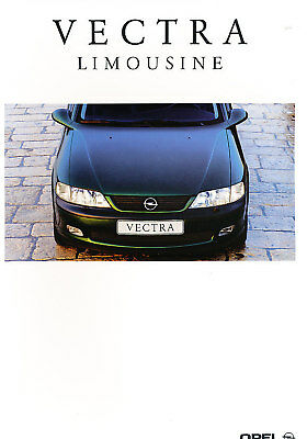 1999 Opel Vectra Deluxe German Prospekt Sales Brochure