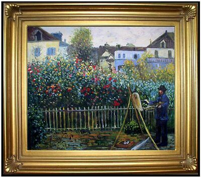 Framed Hand Painted Oil Painting Repro Renoir Monet Painting 20x24in