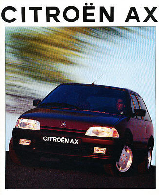 1993 Citroen AX Original Dutch Sales Brochure