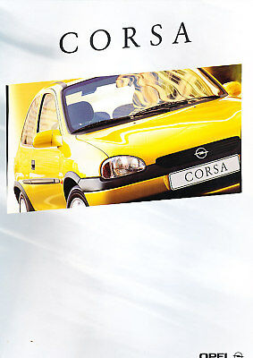 2000 Opel Corsa Original Dutch Sales Brochure