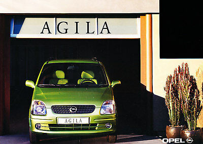 2000 Opel Agila Dutch Sales Brochure 3/00 Prospekt