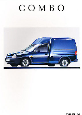 2000 Opel Combo Van Original Dutch Sales Brochure 2/00