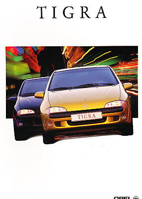 2000 Opel Tigra Dutch Sales Brochure Prospekt