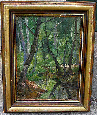 Christensen. Early modernist forest view. 1920s.