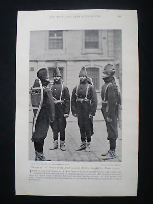 Page With Photo - Royal Canadian Artillery Gunners 1896
