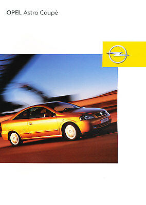 2003 Opel Astra 2-door German Sales Brochure Prospekt